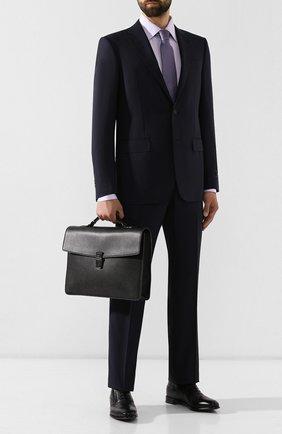 Мужской кожаный портфель galbert BALLY черного цвета, арт. GALBERG/00 | Фото 2