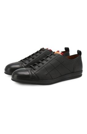 Мужские кожаные кеды BALLY черного цвета, арт. C0L0NES/30 | Фото 1