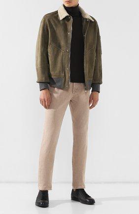Мужские кожаные кеды BALLY черного цвета, арт. C0L0NES/30 | Фото 2