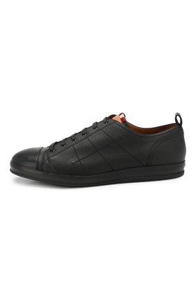 Мужские кожаные кеды BALLY черного цвета, арт. C0L0NES/30 | Фото 3