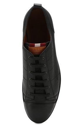 Мужские кожаные кеды BALLY черного цвета, арт. C0L0NES/30 | Фото 5