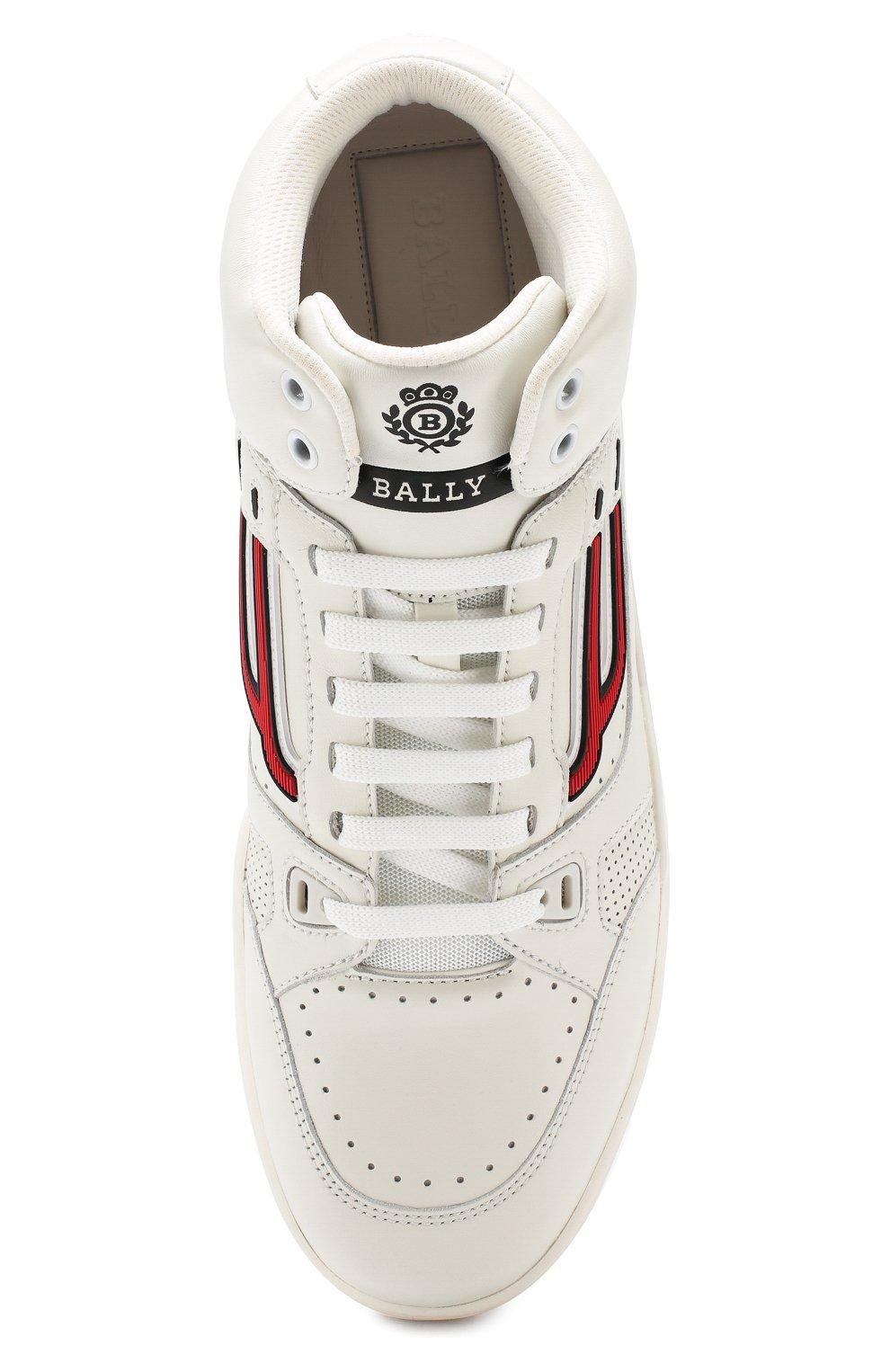 Мужские кожаные кеды BALLY белого цвета, арт. KING-T/108 | Фото 5