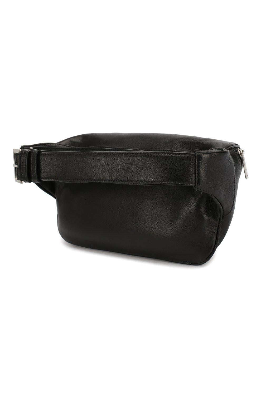 Мужская кожаная поясная сумка SAINT LAURENT черного цвета, арт. 590076/03U0E   Фото 3