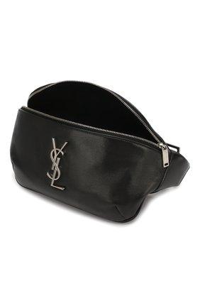 Мужская кожаная поясная сумка SAINT LAURENT черного цвета, арт. 590076/03U0E   Фото 4
