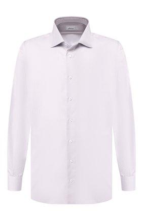 Мужская хлопковая сорочка BRIONI сиреневого цвета, арт. RCL40L/0805I | Фото 1