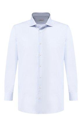 Мужская хлопковая сорочка BRIONI светло-голубого цвета, арт. RCL80L/0806Q | Фото 1
