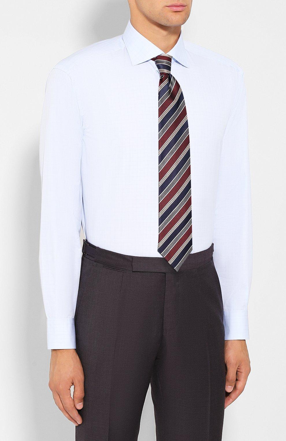 Мужская хлопковая сорочка BRIONI светло-голубого цвета, арт. RCL80L/0806Q | Фото 4