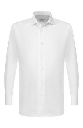 Мужская хлопковая сорочка BRIONI белого цвета, арт. RCLU1S/0804L | Фото 1