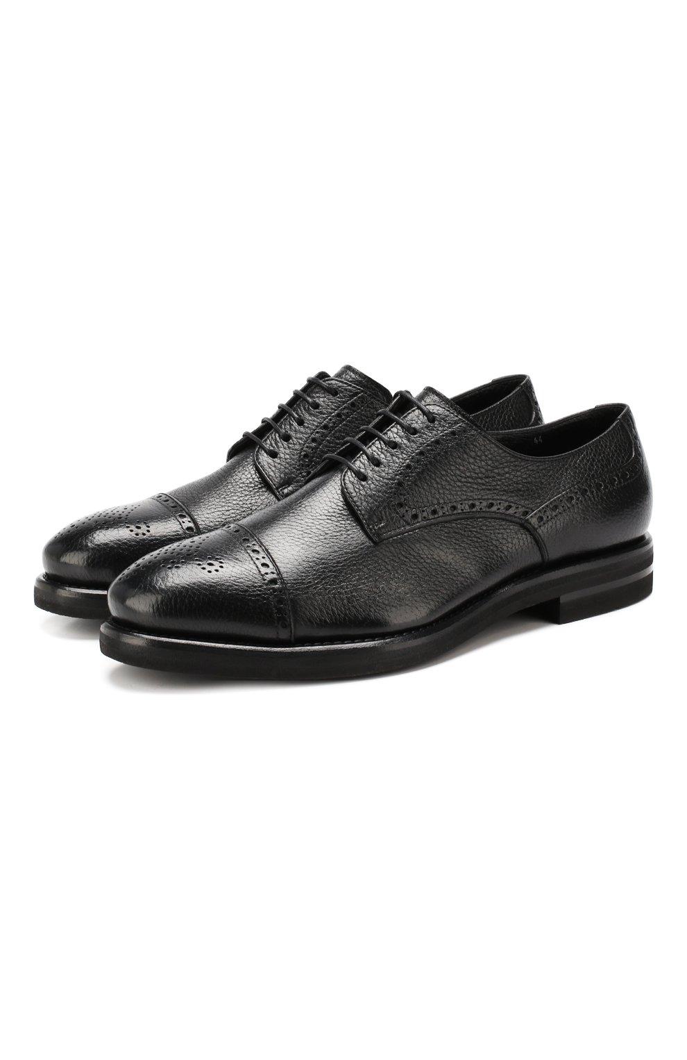 Мужские кожаные дерби H`D`S`N BARACCO черного цвета, арт. 59218.3* | Фото 1