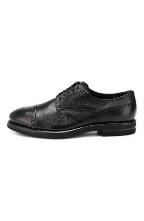 Мужские кожаные дерби H`D`S`N BARACCO черного цвета, арт. 59218.3* | Фото 3