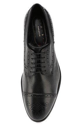 Мужские кожаные дерби H`D`S`N BARACCO черного цвета, арт. 59218.3* | Фото 5