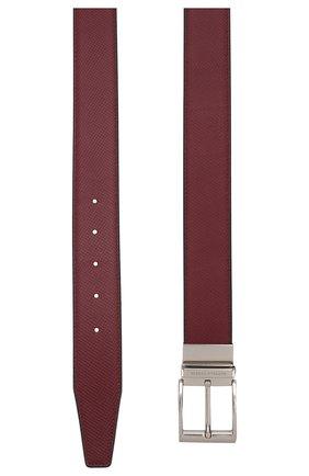 Мужской кожаный ремень BOTTEGA VENETA бордового цвета, арт. 575234/VMAW3 | Фото 2