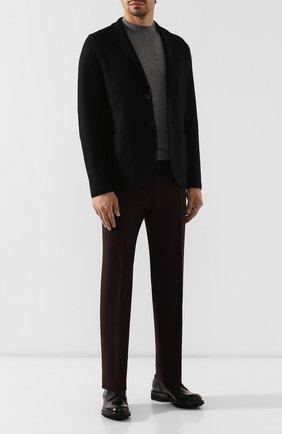 Мужской кожаные дерби DOUCAL'S черного цвета, арт. DU10080TTAUF087NN00 | Фото 2