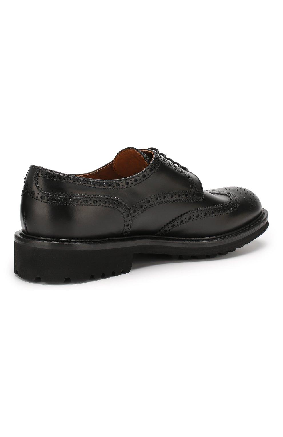 Мужские кожаные дерби DOUCAL'S черного цвета, арт. DU10090TTAUF087NN00 | Фото 4