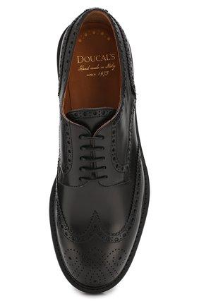 Мужские кожаные дерби DOUCAL'S черного цвета, арт. DU10090TTAUF087NN00 | Фото 5