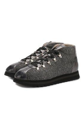 Мужские текстильные ботинки DOUCAL'S серого цвета, арт. DU1792WINNPT3392N05 | Фото 1