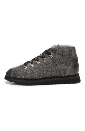 Мужские текстильные ботинки DOUCAL'S серого цвета, арт. DU1792WINNPT3392N05 | Фото 3
