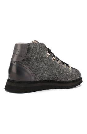 Мужские текстильные ботинки DOUCAL'S серого цвета, арт. DU1792WINNPT3392N05 | Фото 4