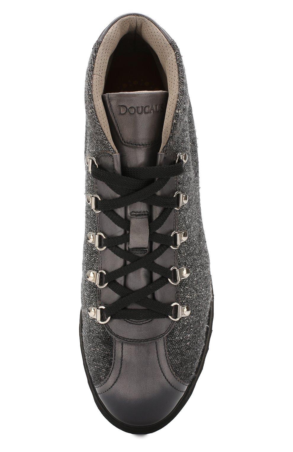 Мужские текстильные ботинки DOUCAL'S серого цвета, арт. DU1792WINNPT3392N05 | Фото 5