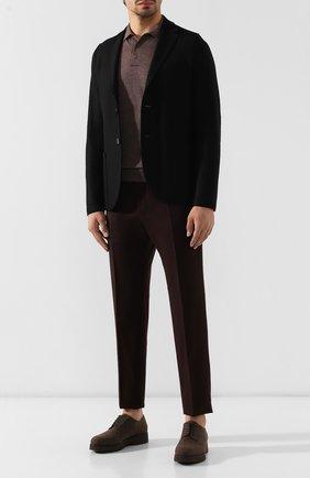 Мужские текстильные дерби DOUCAL'S темно-коричневого цвета, арт. DU2159DAK0UT032TM00 | Фото 2