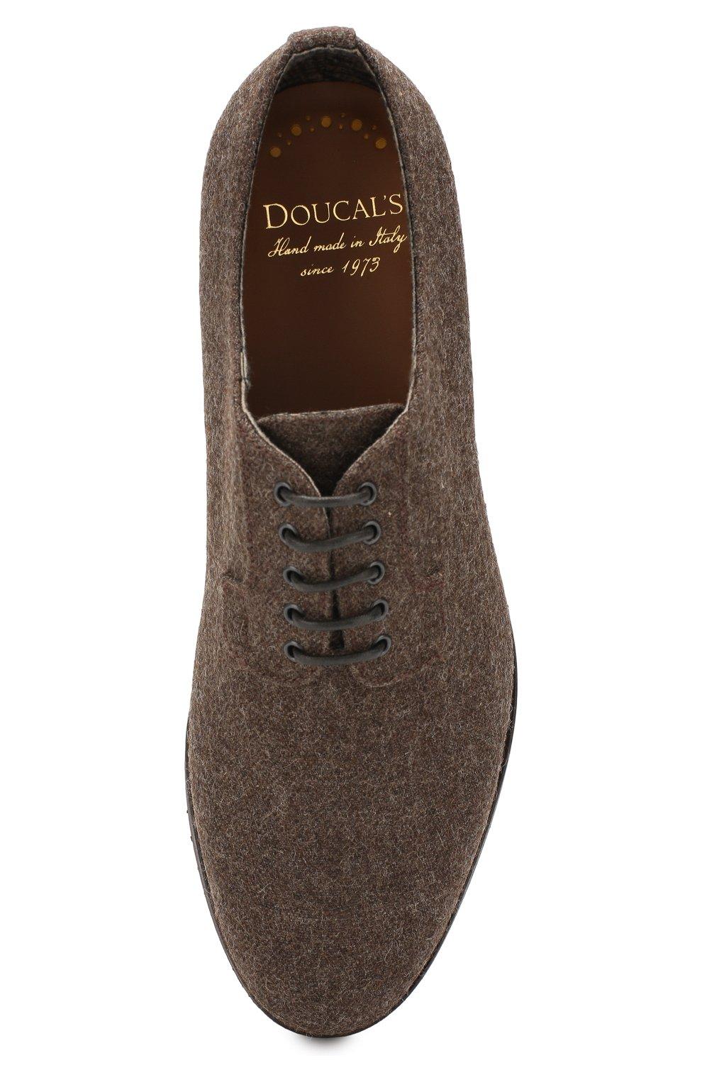 Мужские текстильные дерби DOUCAL'S темно-коричневого цвета, арт. DU2159DAK0UT032TM00 | Фото 5