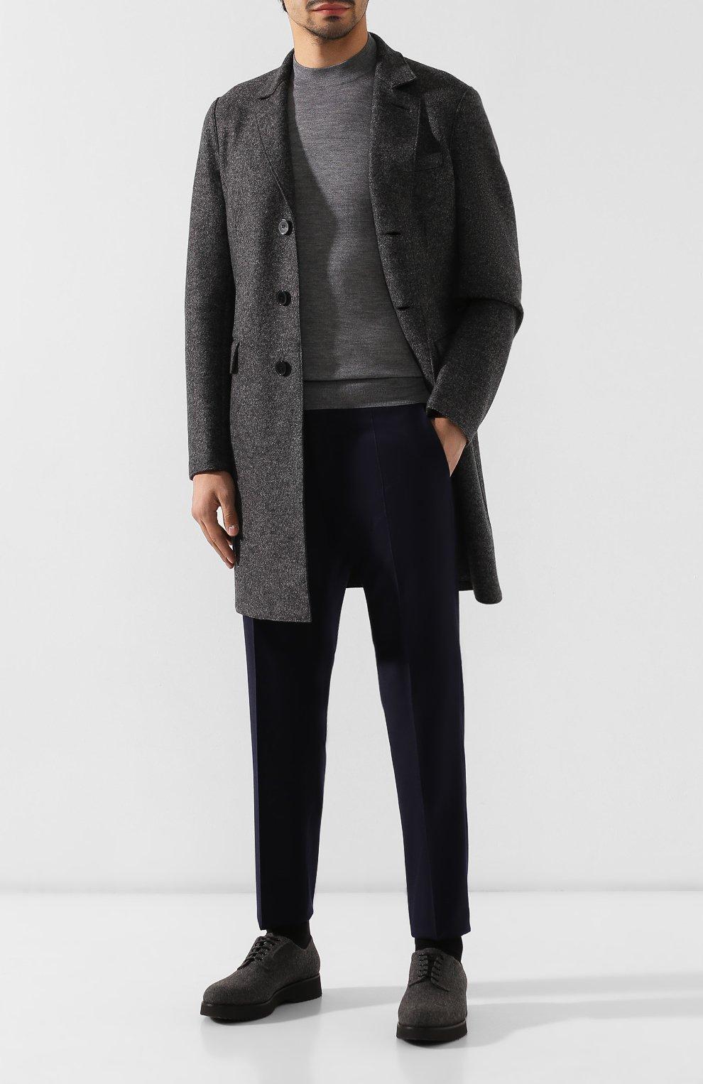 Мужские текстильные дерби DOUCAL'S серого цвета, арт. DU2159DAK0UT032NN05   Фото 2