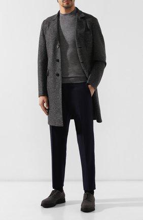 Мужской текстильные дерби DOUCAL'S серого цвета, арт. DU2159DAK0UT032NN05 | Фото 2