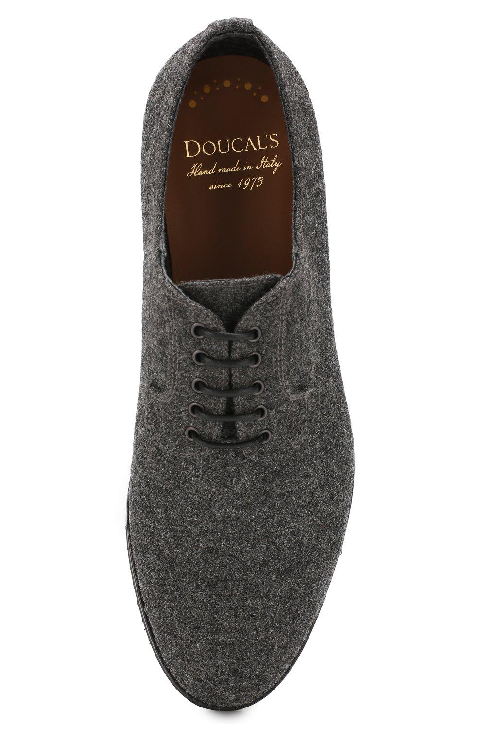 Мужские текстильные дерби DOUCAL'S серого цвета, арт. DU2159DAK0UT032NN05   Фото 5