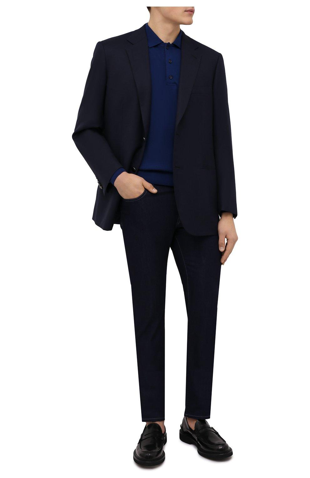 Мужское шерстяное поло PAUL&SHARK синего цвета, арт. C0P1050/FLV | Фото 2