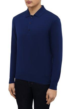 Мужское шерстяное поло PAUL&SHARK синего цвета, арт. C0P1050/FLV | Фото 3