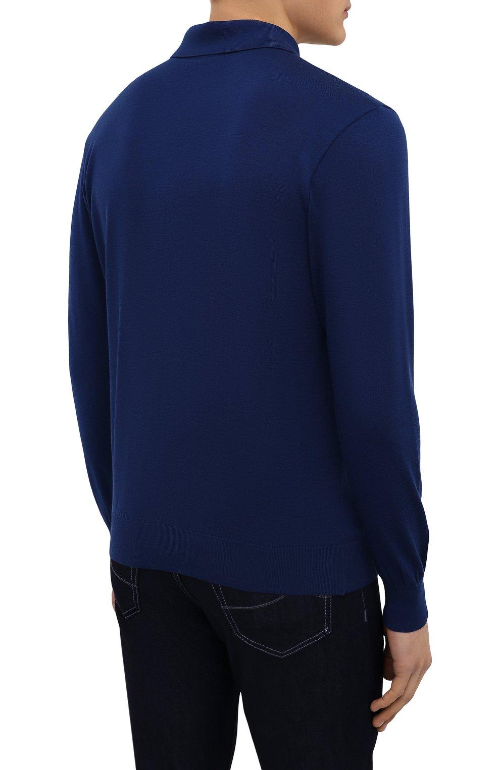 Мужское шерстяное поло PAUL&SHARK синего цвета, арт. C0P1050/FLV | Фото 4