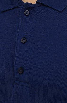 Мужское шерстяное поло PAUL&SHARK синего цвета, арт. C0P1050/FLV | Фото 5