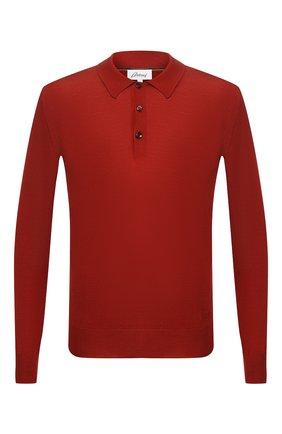 Мужское поло из смеси шерсти и шелка BRIONI бордового цвета, арт. UMR30L/08K16 | Фото 1