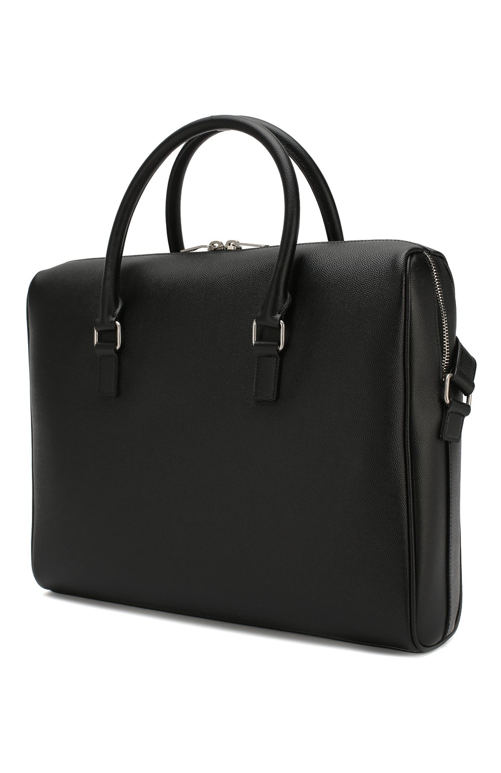 Мужская кожаная сумка для ноутбука SAINT LAURENT черного цвета, арт. 556999/BTY0E | Фото 3