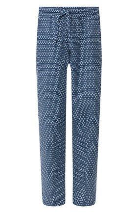 Мужские хлопковые брюки DEREK ROSE темно-синего цвета, арт. 3564-LEDB026 | Фото 1