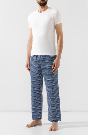 Мужские хлопковые брюки DEREK ROSE темно-синего цвета, арт. 3564-LEDB026 | Фото 2