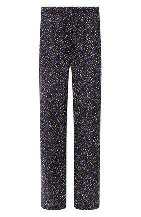 Мужские хлопковые брюки DEREK ROSE темно-синего цвета, арт. 3564-LEDB029   Фото 1