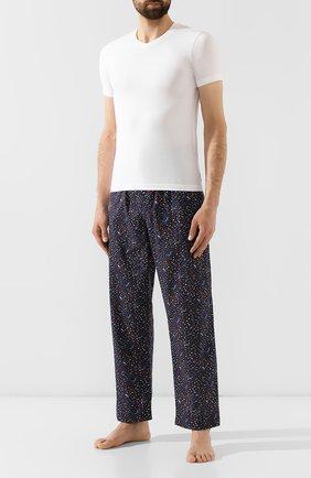 Мужские хлопковые брюки DEREK ROSE темно-синего цвета, арт. 3564-LEDB029   Фото 2