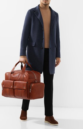 Мужская кожаная дорожная сумка leisure BRUNELLO CUCINELLI коричневого цвета, арт. MBZIU323 | Фото 2