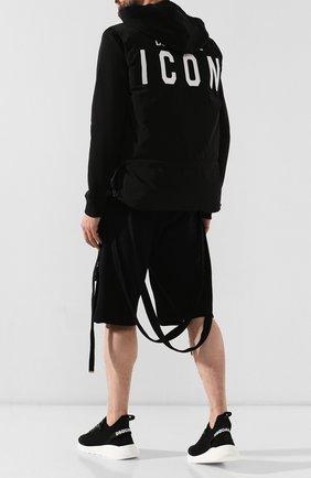 Мужские текстильные  кроссовки speedster  DSQUARED2 черного цвета, арт. SNM0074 59202114 | Фото 2