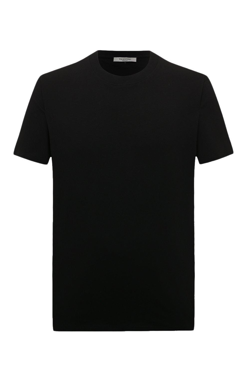 Мужская хлопковая футболка VALENTINO черного цвета, арт. SV3MG08Y3LE   Фото 1