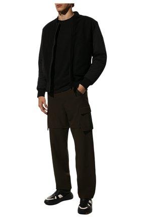 Мужская хлопковая футболка VALENTINO черного цвета, арт. SV3MG08Y3LE   Фото 2