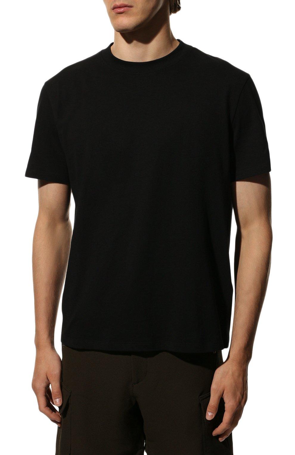 Мужская хлопковая футболка VALENTINO черного цвета, арт. SV3MG08Y3LE   Фото 3