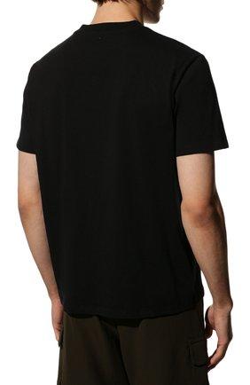 Мужская хлопковая футболка VALENTINO черного цвета, арт. SV3MG08Y3LE   Фото 4