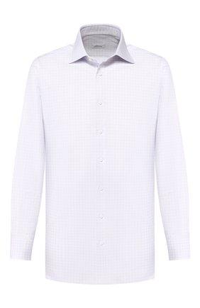 Мужская хлопковая рубашка BRIONI сиреневого цвета, арт. RCLU2W/P805X | Фото 1