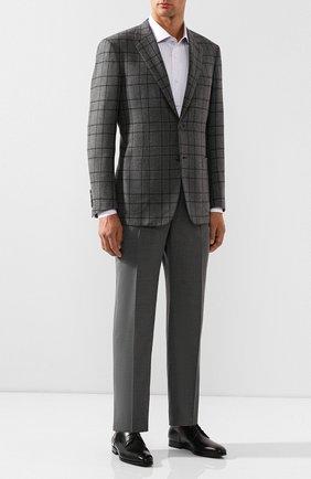 Мужская хлопковая рубашка BRIONI сиреневого цвета, арт. RCLU2W/P805X | Фото 2