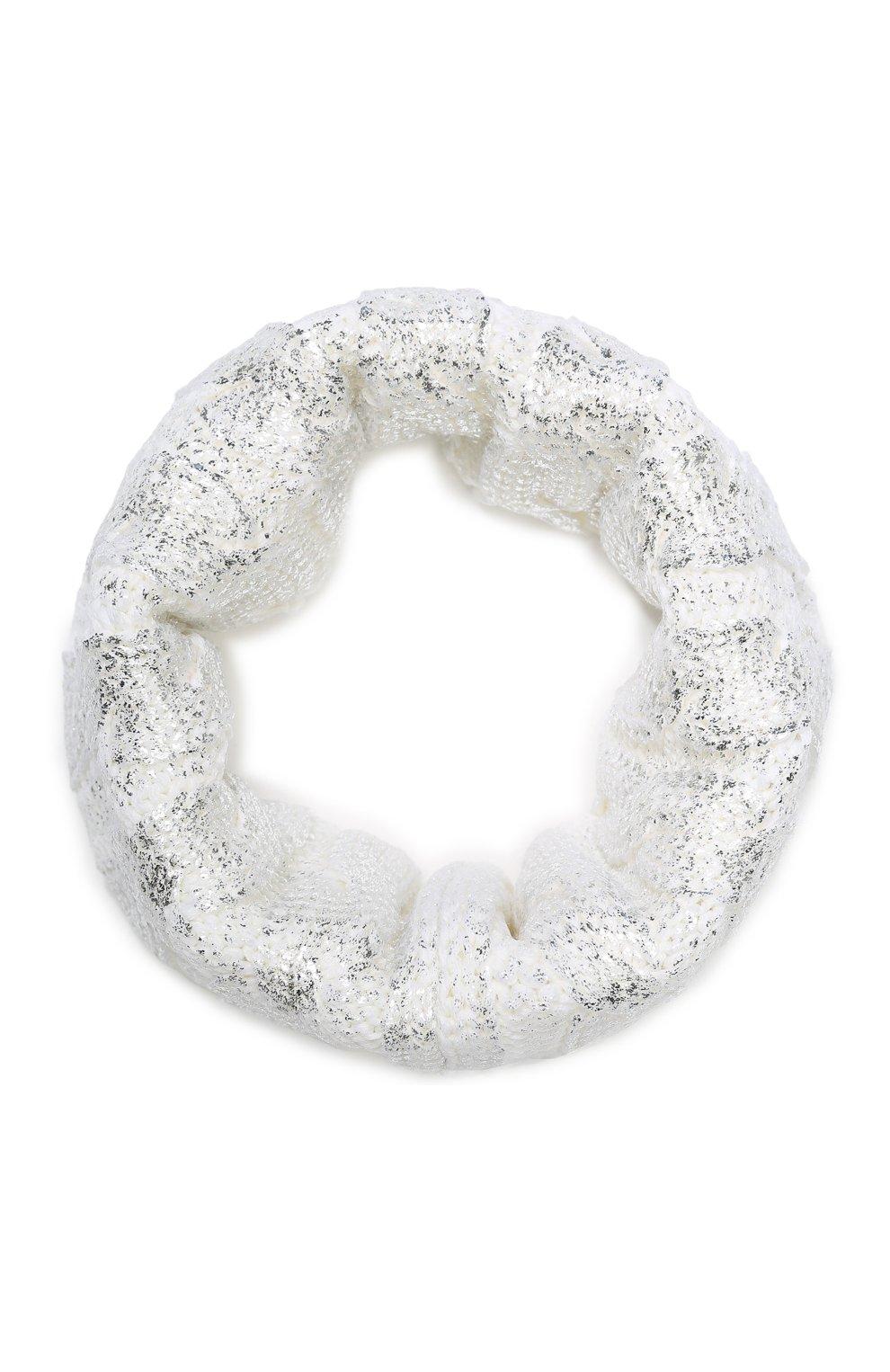 Детский шерстяной шарф-снуд CATYA белого цвета, арт. 923767 | Фото 1