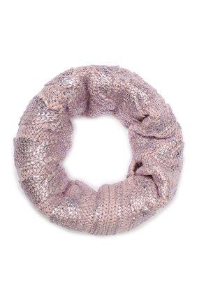 Детский шерстяной шарф-снуд CATYA светло-розового цвета, арт. 923767 | Фото 1