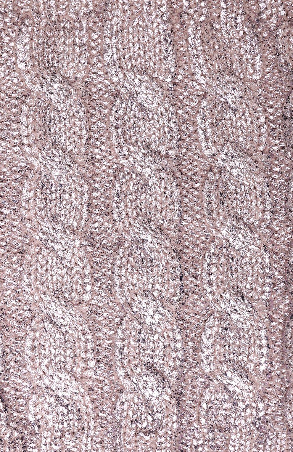 Детский шерстяной шарф-снуд CATYA светло-розового цвета, арт. 923767 | Фото 2