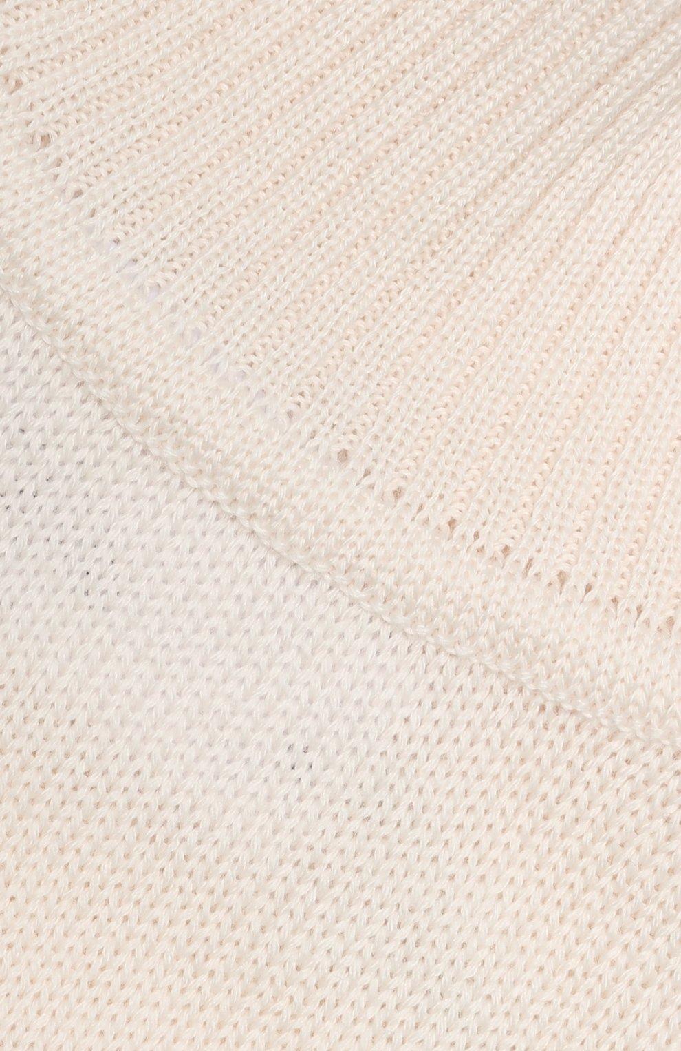 Детский шерстяной шарф-снуд CATYA бежевого цвета, арт. 923747/1 | Фото 3